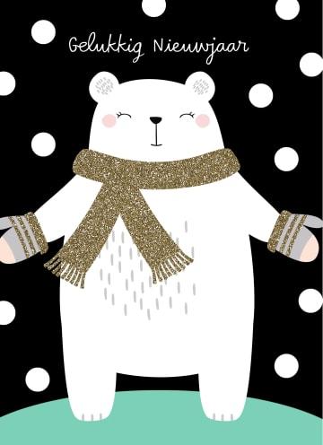 - nieuwjaarskaart-ijsbeer