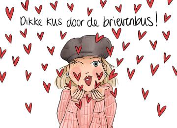 - vriendschap-kaart-dikke-kus-door-de-brievenbus-matia-studio