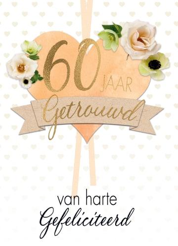 - huwelijkskaart-60-jaar-getrouwd-hart-bloemen