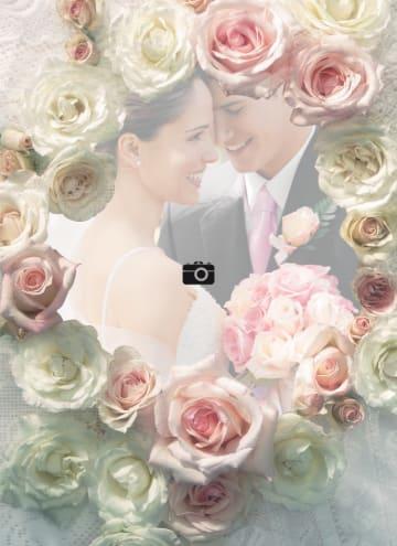 - fotokaart-trouwen-roze-en-witte-rozen