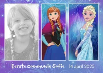 - fotokaart-frozen-anna-elsa-eerste-communie-