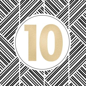 - gouden-10-met-patroon