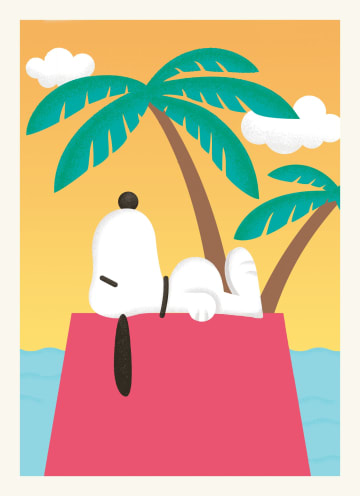 - Nieuwe-woning-kaart-Snoopy-op-een-eiland