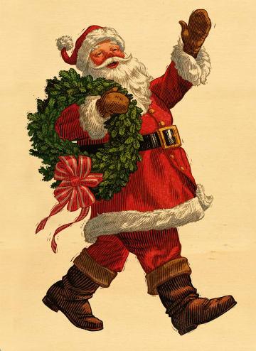 - houten-kerstkaart-kerstman