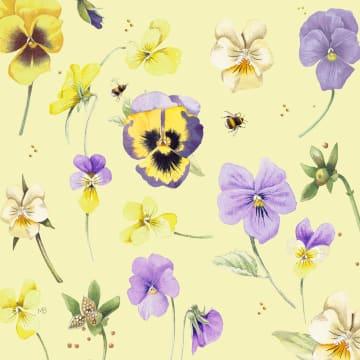 - Kaart-flowers-by-Marjolein-Bastin-Geel-viooltjes-paars