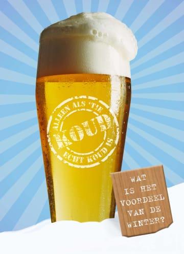 - glas-bier-voordeel-van-de-winter