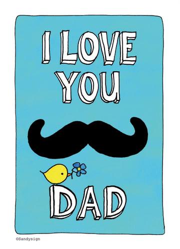 - simpele-kaart-met-een-snor-i-love-you-dad