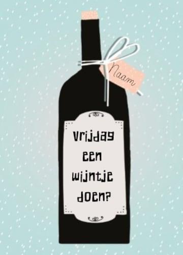 - wijntje-doen