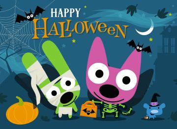- Hoops-en-yoyo-in-halloween-kostuum