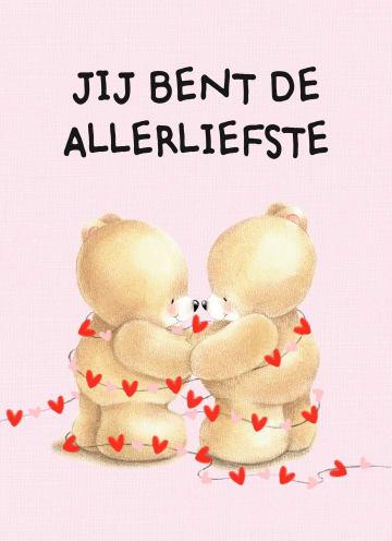 - valentijnskaart-klassiek-forever-friends-jij-bent-de-allerliefste