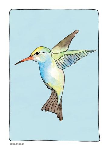 - een-sierlijke-kaart-met-een-mooie-vogel-erop