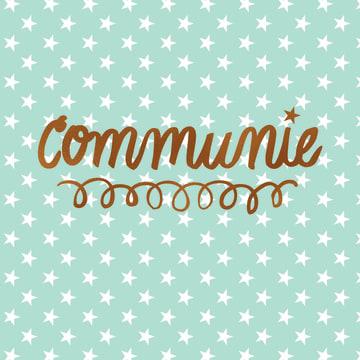 - communie-mint-groen-met-witte-sterretjes