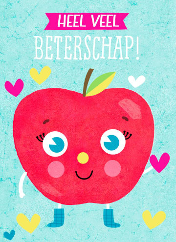- Beterschapskaart-appel-heel-veel-beterschap