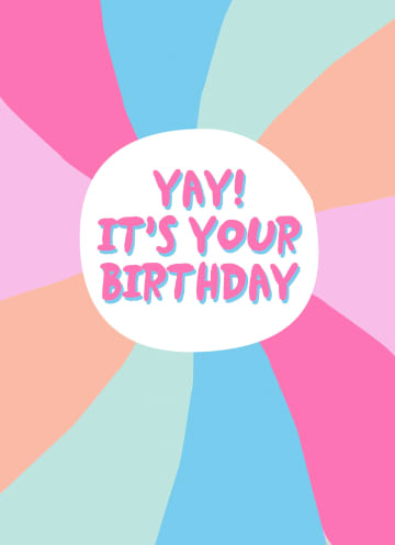 - Verjaardagskaart-tiener-meisje-en-vrouw-hip-Yay-it-is-your-birthday
