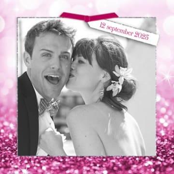 - huwelijk-kaart-paarse-glitters-fotokader