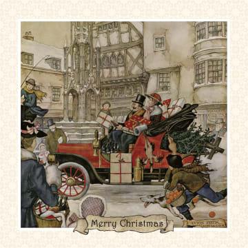- anton-pieck-kerst-winter-auto