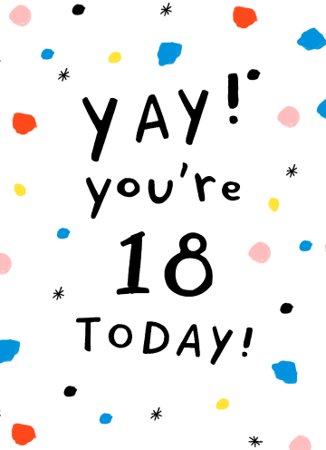 - Verjaardagskaart-leeftijd-18-yay-your-18-today