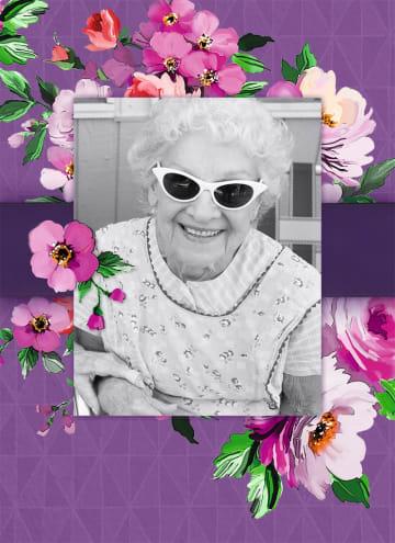 - fotokaart-staand-paars-met-bloemen