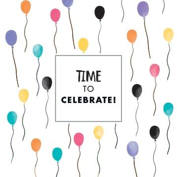 - time-to-celebrate-kaart-met-gekleurde-vrolijke-ballonnen