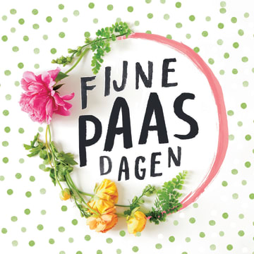 - frisse-fijne-paasdagen-kaart-met-bloemen-en-stippen