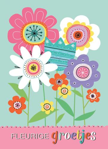 - kaart-fleurige-groetjes-met-verschillende-ontworpen-bloemen