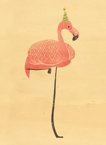 - houten-kaart-met-een-roze-verjaardags-flamingo
