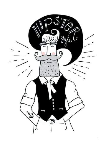 - Hipster-style