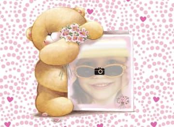 - fotokaart-forever-friends-beer-wit-met-roze-rood