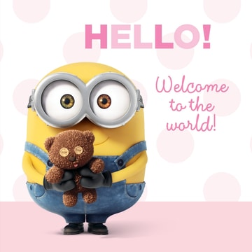 - hello-welcome-to-the-word-minion-kaart-dochter
