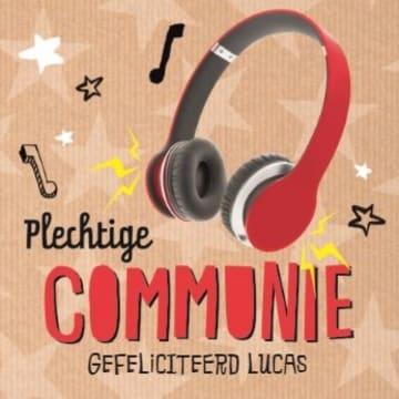 - stoere-muzikale-communie-kaart-met-koptelefoon