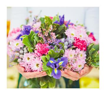 - Felicitatiekaart-mooi-boeket-met-bloemen