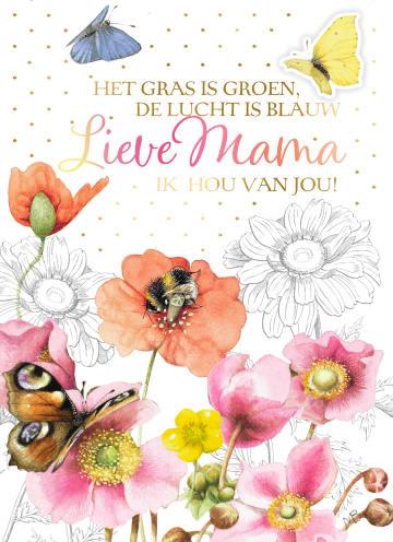 - Moederdagkaart-Marjolein-Bastin-Lieve-mama-Het-gras-is-groen