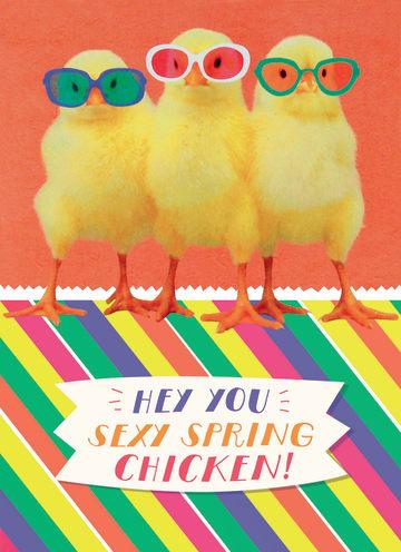 - grappige-kuiken-kaart-met-brilletjes-op-en-de-tekst-hey-you-sexy-spring-chicken