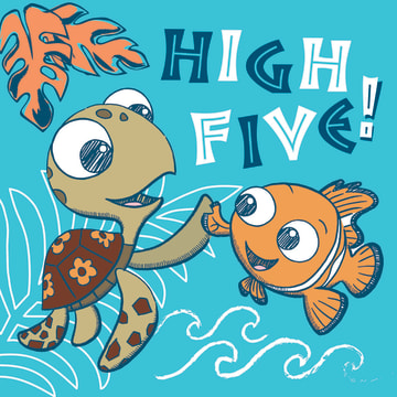 - disney-finding-dory-high-five