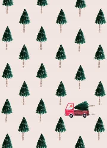 - Kerstkaart-kerstbomen-met-vrachtwagen