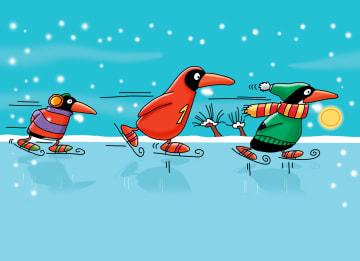- pinguins-op-de-schaats
