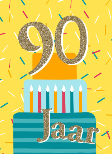 - verjaardagskaart-90-jaar-met-cadeautjes