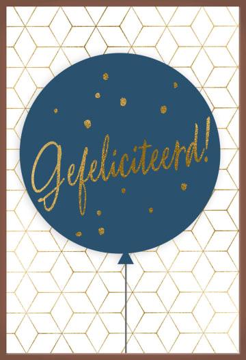 - Chocolade-kaart-Man-Vrouw-Ballon-met-gefeliciteerd