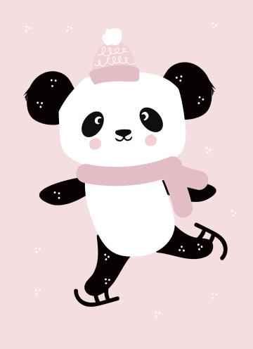 - panda-schaatsen