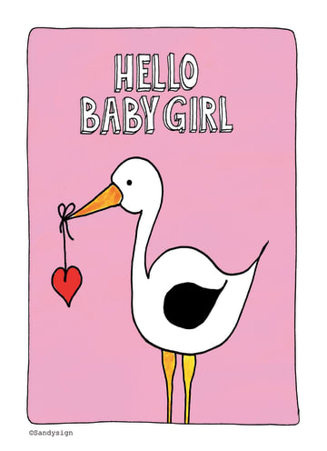- een-ooievaar-met-de-tekst-hello-baby-girl