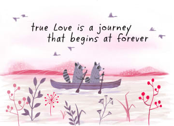 - Trouwdagkaart-Engels-True-love-is-a-journey