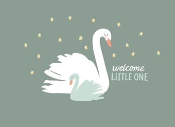 - geboorte-zoon-zwaan-welcome-little-one