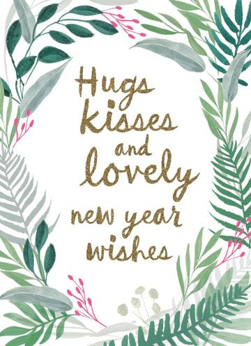 - nieuwjaarskaart-hugs-kisses-and-lovely-new-year-wishes