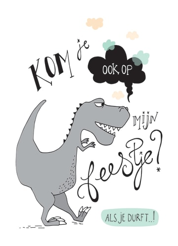 - Dino-uitnodiging