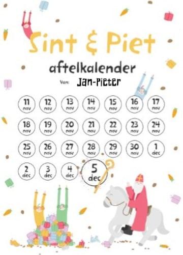 - Sinterklaaskaart-Sint-en-piet-aftelkalender