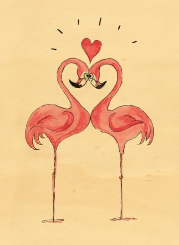 - houten-kaart-flamingos-hart