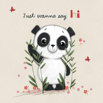 - panda-kaart-just-wanna-say-hi