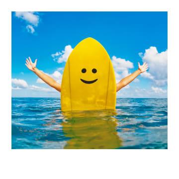 - Geslaagdkaart-zwemdiploma-smiley-surfboard-Polaroid