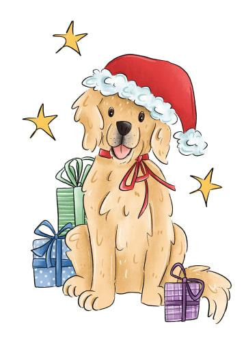 - Kerstkaart-hart-onder-de-riem-Hond-met-kerstmuts-matia-studio