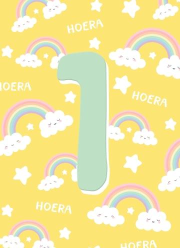 - Verjaardagskaart-1-jaar-regenboog